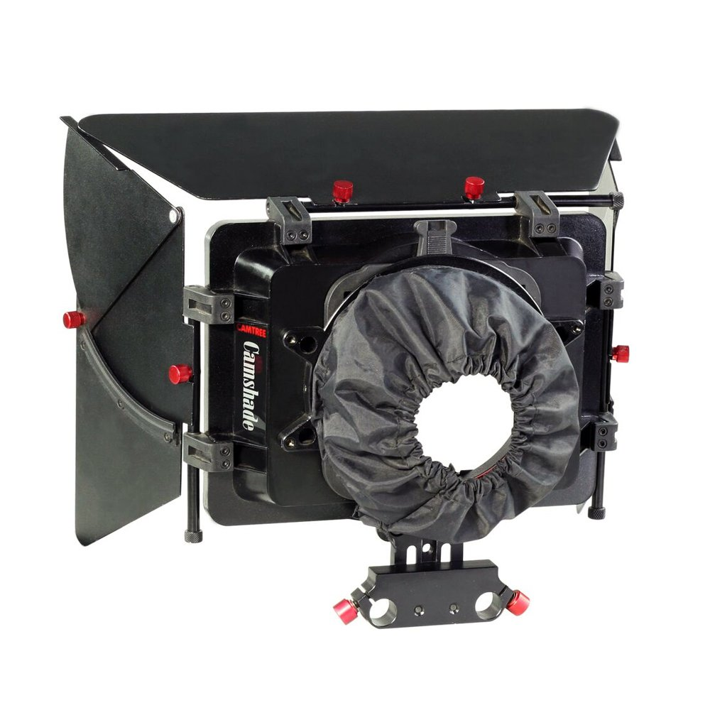 CAMTREE Camshade Professional Wide Angle Matte Box with 15mm Rod Adapter for DSLR Video DV Camcorder Nikon Canon Sony Blackmagic Camera Lenses up to 105mm (MB-CMS) by Camtree