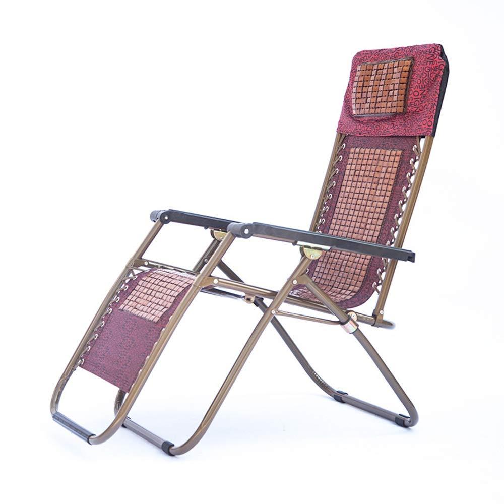 NEW ARRIVAL JDGK 開催中 - ラウンジチェア B07T3HN6RL 8974 折りたたみ椅子ロッキングチェアクールな高級竹穀物竹フル鉄強化レジャーラウンドチューブラウンジチェア