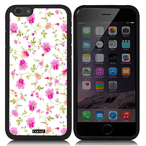 Hot Wheels Kids Bedding - CocoZ® New Apple Iphone 6 s 4.7-inch Case Beautiful flowers TPU Material Case (Black TPU & flowers 32)