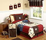 Sweet Jojo Designs 4-Piece Wild West Cowboy Western Children's Bedding Twin Set