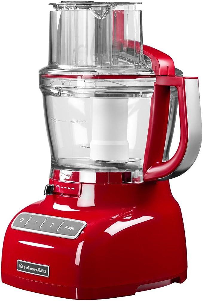 KitchenAid 5KFP1335ECU - Robot de cocina, con capacidad del tazón de 3.1 l, 220-240 V, 49 x 28 x 26 cm, color plata: Amazon.es: Hogar