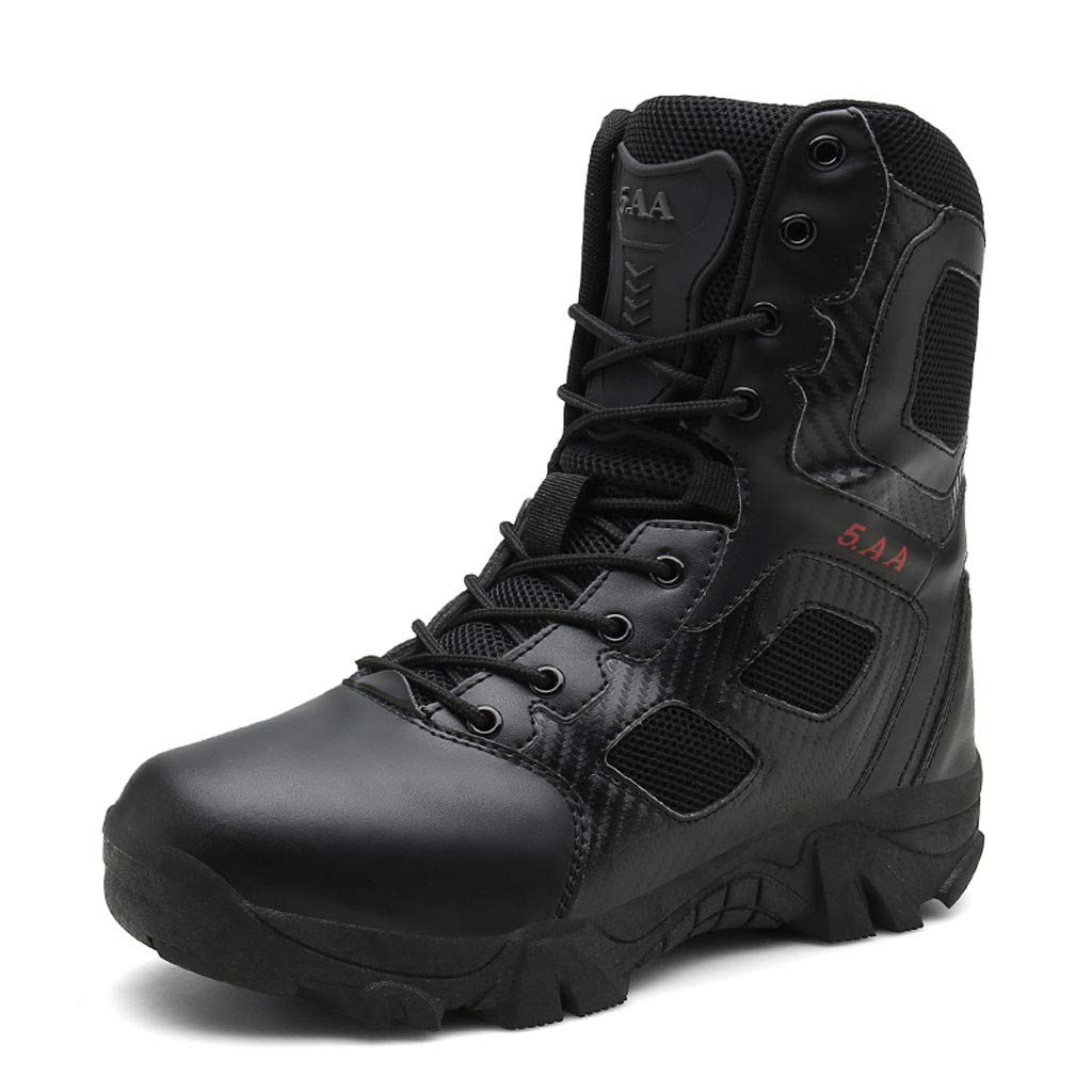 Mens Hiking Boots Waterproof Mountaineering Boots Outdoor Mens Ventilated Hiking Shoes Non Slip Walking Boots for Men (Black, US:9) by DaoAG - Shoes (Image #1)