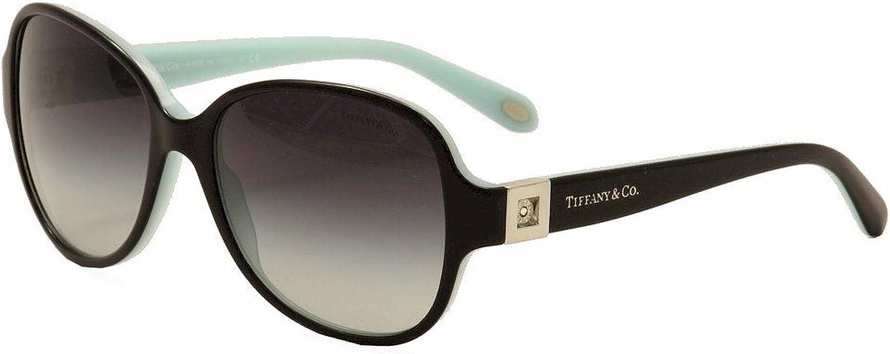505de84e55 Amazon.com  Tiffany Tf4046b Butterfly Interchangeable Temple Insert Black  Azure Sunglasses 80553c  Clothing