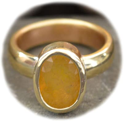 Yellow Sapphire Ring Size 10
