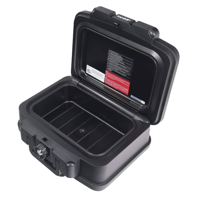 Taille au choix HMF 2504580 Bo/îte de classement /étanche r/ésistant au feu DIN A4 Noir Format A4 Noir A5