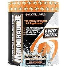 Axis Labs HemodrauliX Nitric Oxide Pump Powder 30 Servings Neutral Mixer