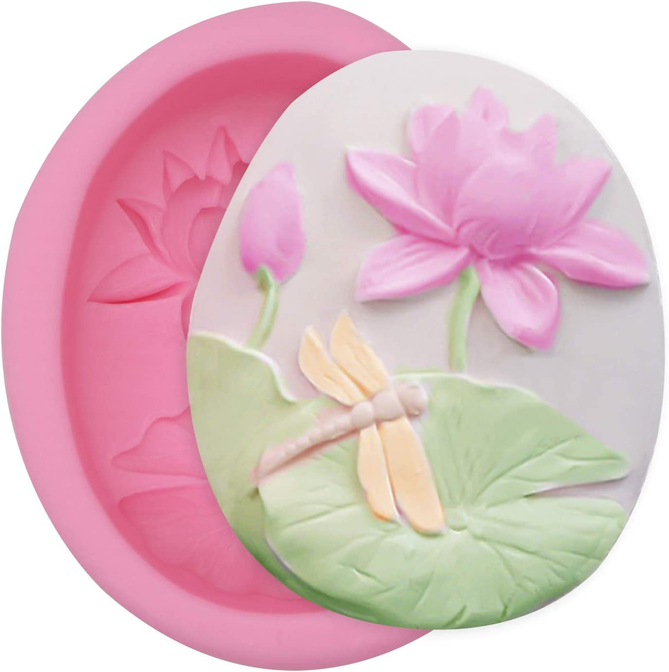 Meiyouju Lotus leaf lotus Candy Molds Silicone,Food Grade Silicone Cake Molds ,Candy, Icing, Biscuit Decor, Chocolate, Polymer Clay, Resin Mold, Epoxy