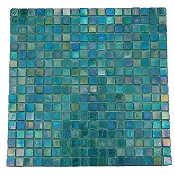 Mosaikfliesen Sicis Türkis Blau Mix-Glasmosaik 1 Matte: Amazon.de ...