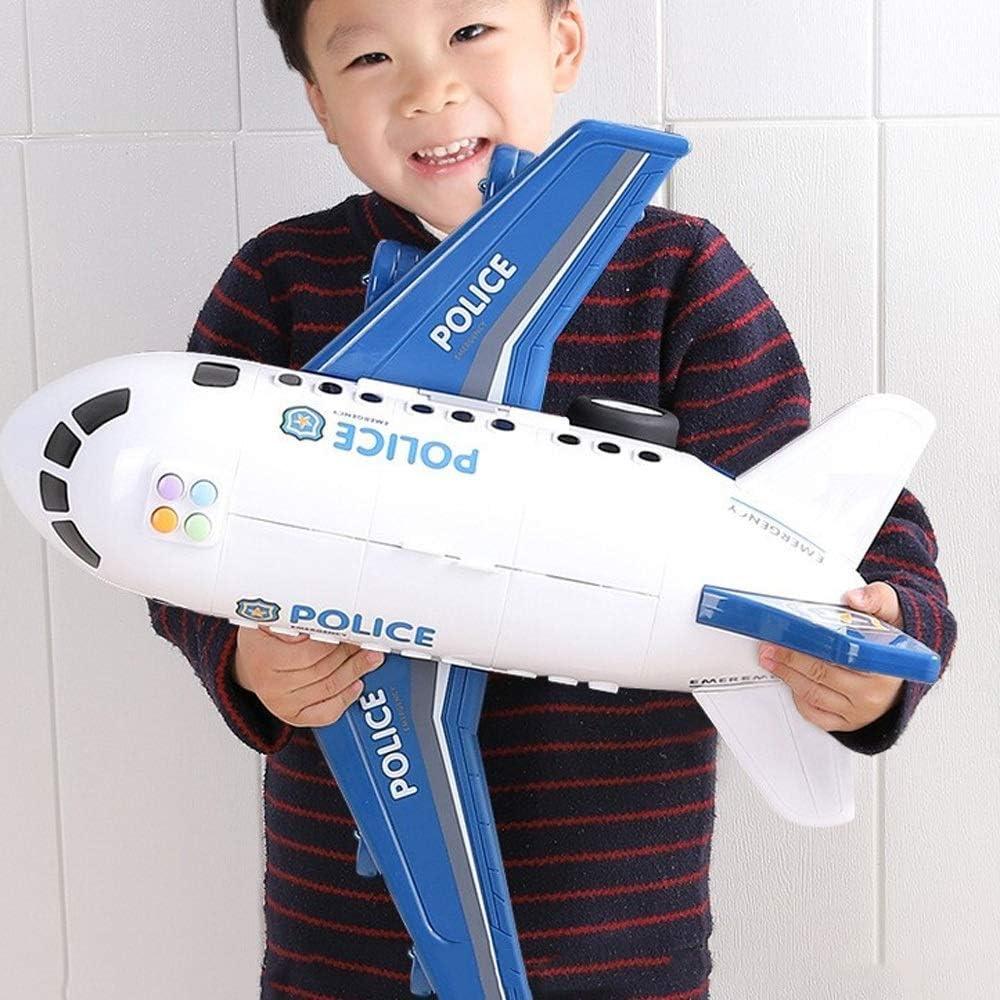 Enorme aleación Tirar espalda Espacio Space Shuttle Aviones eléctricos Modelo con una música ligera Aviation Aviation Airbus Control remoto Avión de aviones Biplano Juguetes educativos for niños peque
