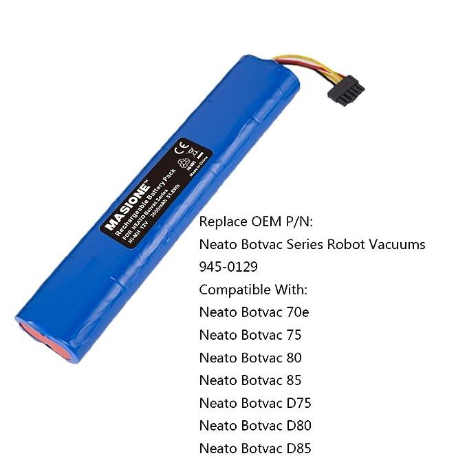MASIONE 12 V 3600 mAh NiMH batería para Botvac Serie y Robots de ...