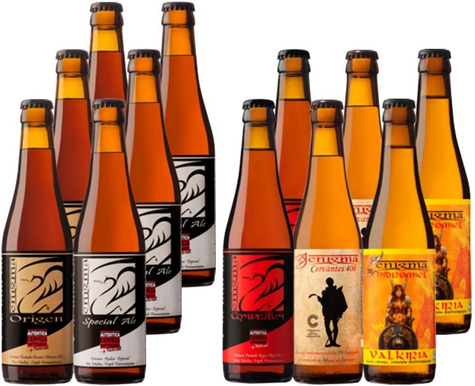 Cervezas Enigma - Pack Degustación - 12 botellas x 0,33 L