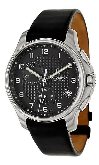 Victorinox 241552 - Reloj para Hombres, Correa de Piel de Borrego Color Negro: Amazon.es: Relojes