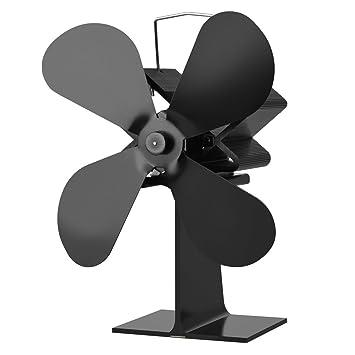 4-Blade estufa de calor del ventilador accionado registro de madera quemador Ecofan Quiet Home Chimenea Ventilador: Amazon.es: Bricolaje y herramientas