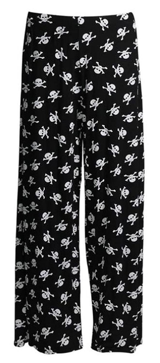 25c9eaf46e6 well-wreapped Cima Mode s Women s Plus Size Floral Cross Skull Wide Leg  Palazzo Pants 10