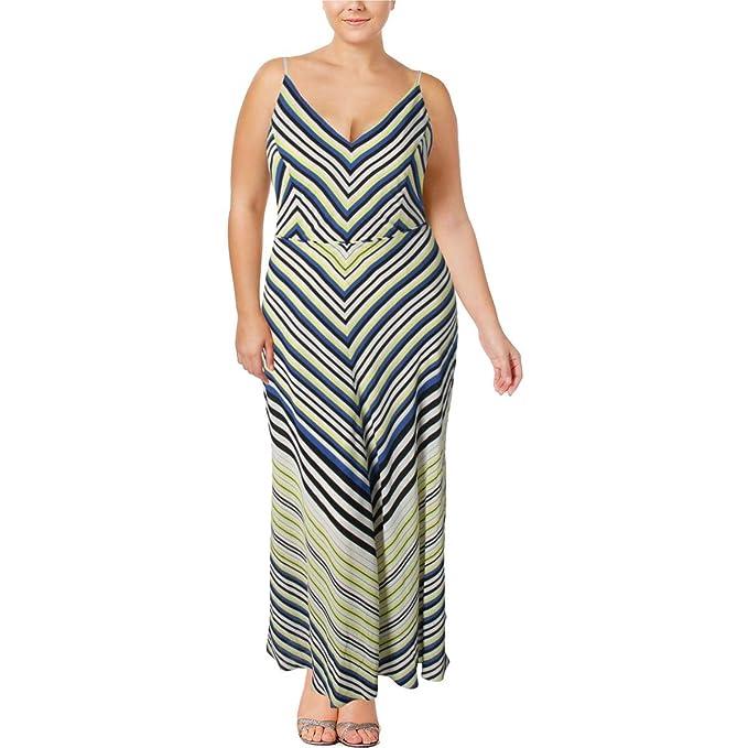 Super Stripe Plus Size Maxi Dress in Sunshine - Size 16 / S ...