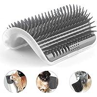 Cat Self Groomer, Cat Wall Corner Massage Tool Self-Grooming Comb Pet Cat Hair Removal Brush (Grey)