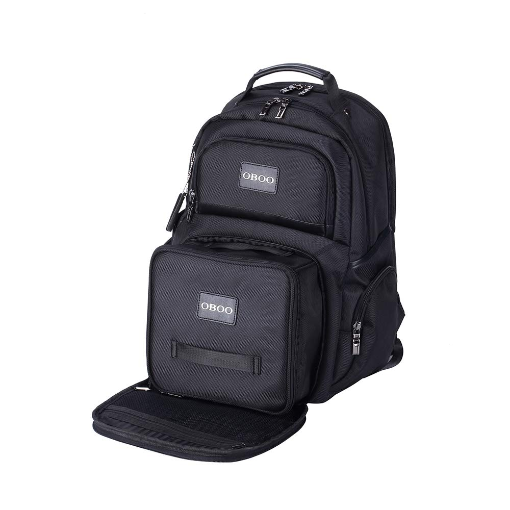 OBOO Business Travel Laptop Lunch Backpack with Removable Large Insulated Tote Lunch Box -3 Meals Management Lunch bag for Men Women Cooler Backpack Fits 15.6 Laptop Notebook,Ice Pack Fitness Backpack