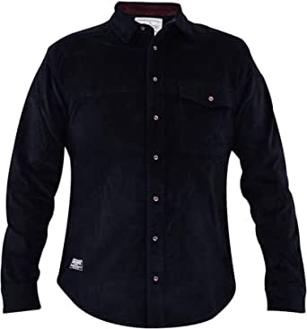 Jacksouth Hombres diseñador de Manga Larga de Pana de algodón Ocasional Camisa de algodón Estirable