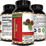 Pure Pycnogenol Powder- Natural Pine Bark Extract 30 mg - Cellulose Capsule with Rice Flour - Aids In Asthma Relief + Can Lower Cholesterol + Lower Blood Sugar - Best Supplement For Men And Women