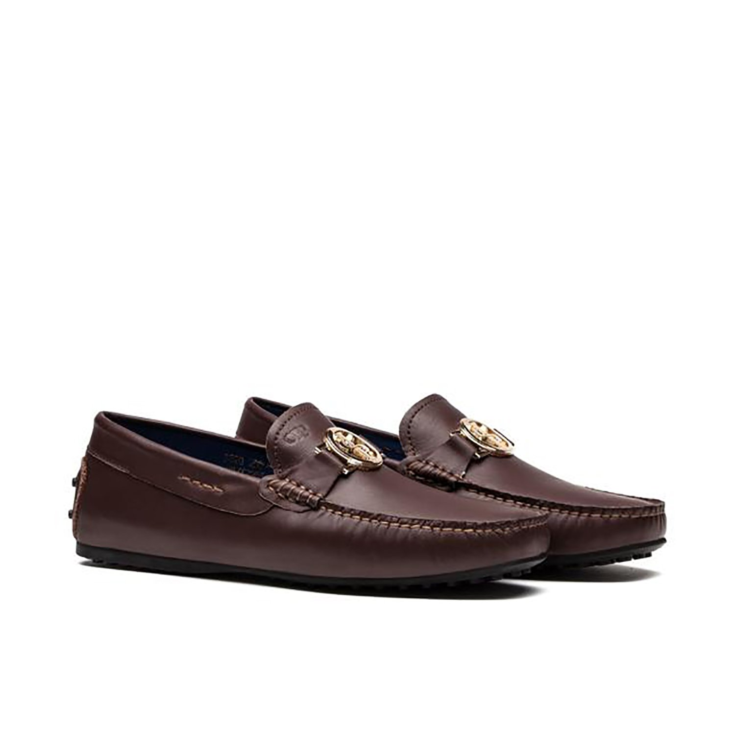 Opp Men City Leather Loafers Brown