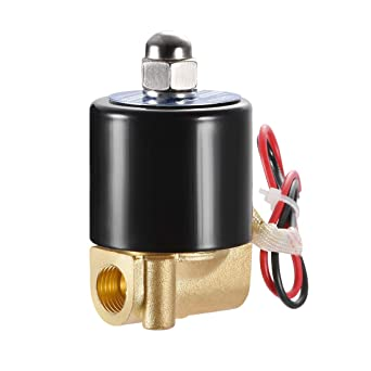 1//4 Brass Electric Solenoid Valve 24V AC NPT Normally Open Air Gas Water NBR