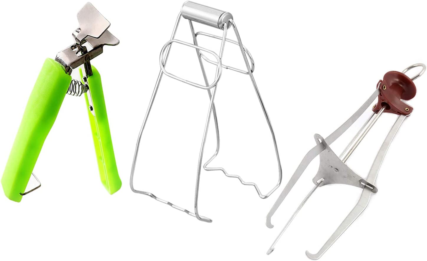 3 Pack Dish Bowl Clip Gripper, Kitchen Stainless Steel Folding Hot Dish Plate Holder, Lifter Gripper, and Three Feet Clip Retrieve Tong from Microwave Oven (3 Pack)