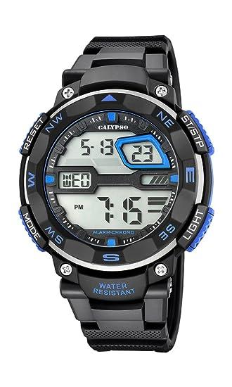 Calypso Hombre Reloj Digital con Pantalla LCD Pantalla Digital Dial y Correa de plástico en Color Negro k5672/5: Calypso: Amazon.es: Relojes