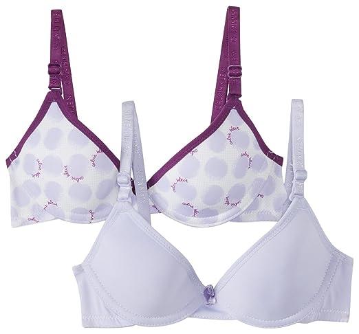 aa371b5872 Calvin Klein Big Girls  2 Pack Molded Underwire Bras