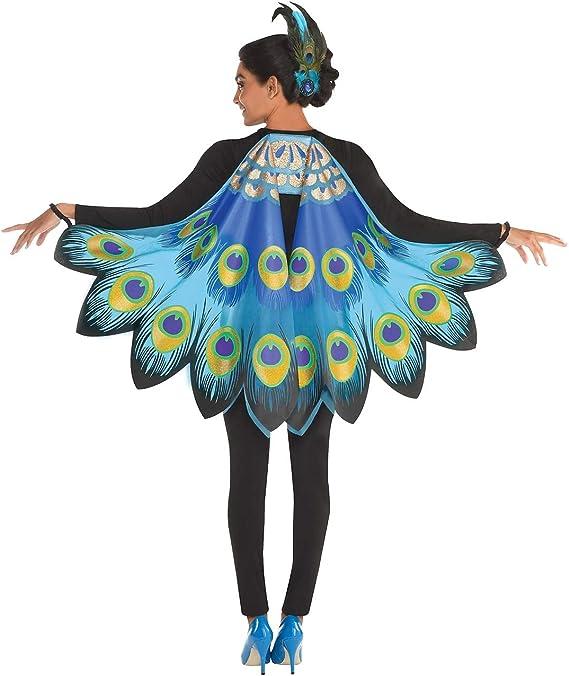 amscan - Disfraz de alas de pavo real para mujer, color azul ...