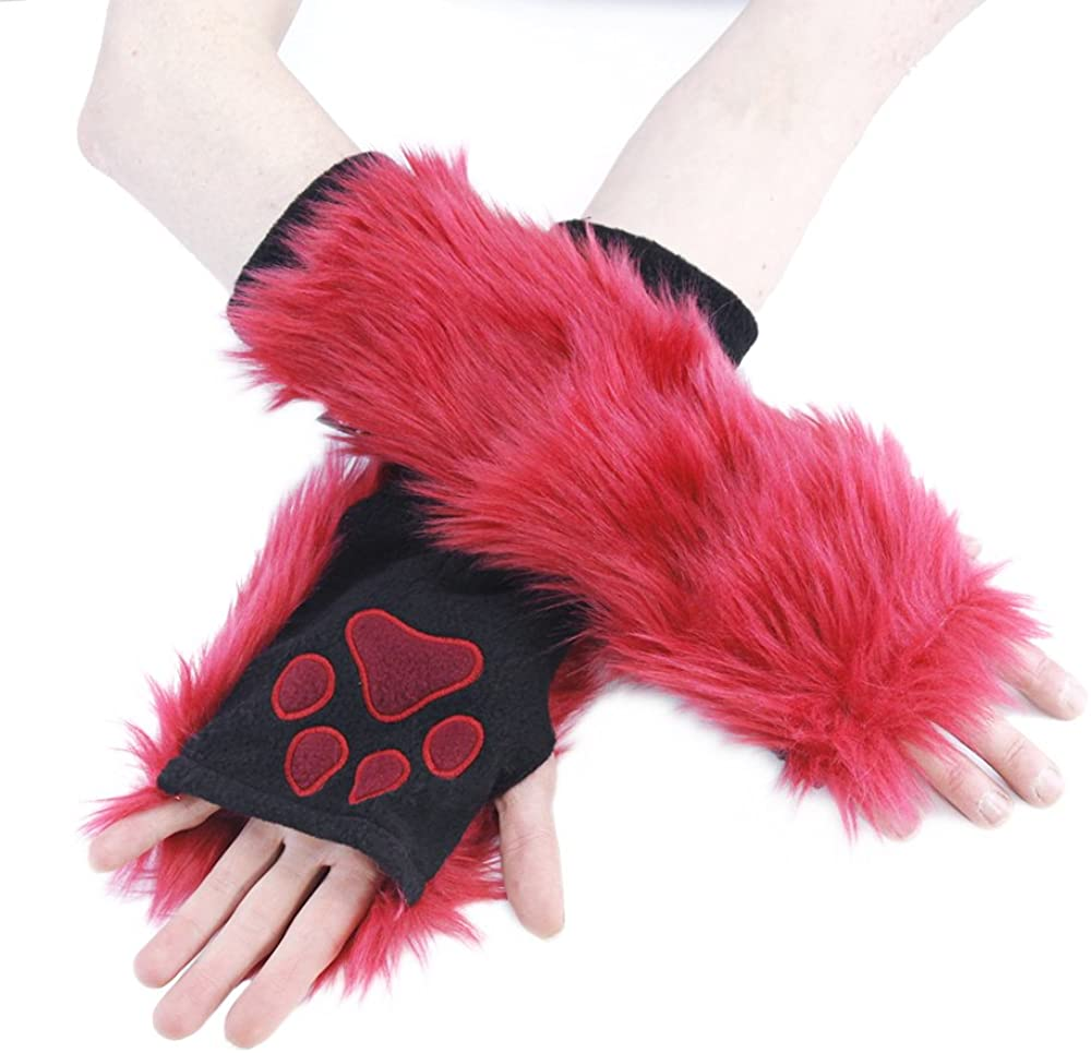 Pawstar Red Furry Paw...