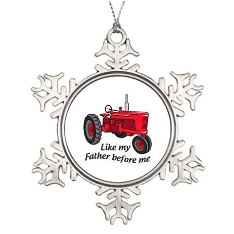Occupational Tractor Large Christmas Tree Snowflake Ornaments Snowflake  Christmas Snowflake Ornaments - Amazon.com: Occupational Tractor Large Christmas Tree Snowflake