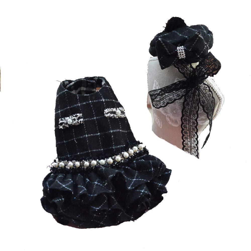 JHC Vestiti per Cani, Vestiti per Animali Domestici di Alta qualità, Vestiti per Cani, Adatti per Busto 28-50cm (Nero, L),nero-XS