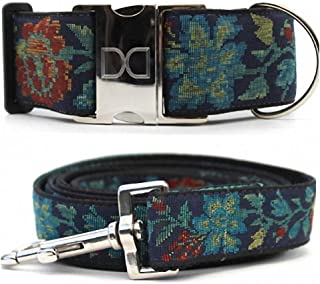"product image for Diva-Dog 'Nashville Rose' 2"" Extra Wide Large Dog Custom Collar with Plain or Engraved Buckle, Matching Leash Available"