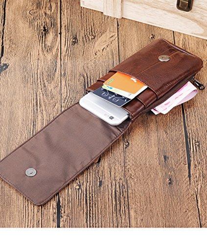 Schoudertasje Mobiel : Iphone plus belt clip pouch genuine leather vertical