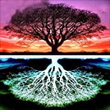 Iuhan  Full Drilled 5D Tree Diamond Painting Kits for Adults and Kids, DIY Life of Tree 5D Embroidery Paintings Rhinestone Diamond Painting Kits Pasted DIY Diamond Painting Cross (A)