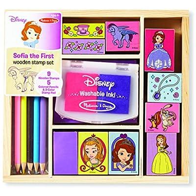 Melissa & Doug Disney Sofia the First Wooden Stamp Set: Melissa & Doug: Toys & Games