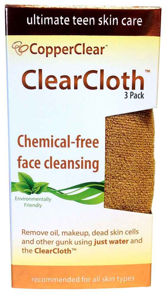 ClearCloth for Natural Acne Care - 3 Pk – 12x12 - Remove Makeup, Oils, Dead Skin & Other Pore-clogging Residue - Cleanse & Exfoliate Your Skin Using Just Water MojaWorks CC-003