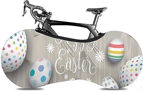 Cubierta De Bicicleta,Happy Easter Eggs On Gray Striped Wooden Board Funcional Bike Bike Cubiertas para Bicicletas De Montaña O Carretera: Amazon.es: Deportes y ...