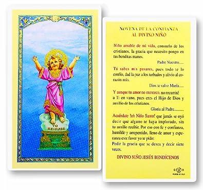 Novena De La Confianza Al Divino Nino Tarjeta De Rezo Laminada Bendita Por Su Santidad Francisco