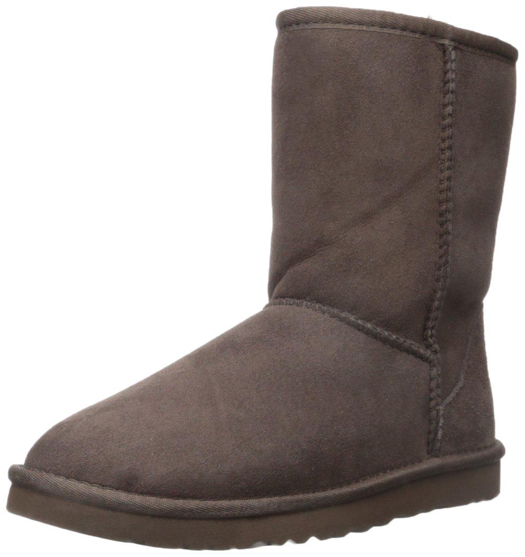UGG Australia Women's Classic Short Chocolate Sheepskin  Boot - 5 B(M) US