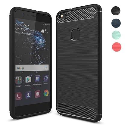 Amytech Fundass Carcasa Huawei P10 Lite 1.5 MM Grueso Gel Silicona Non-Slip Anti-Fingerprint Anti-Scratch Fundass Carcasa Case para Huawei P10 Lite
