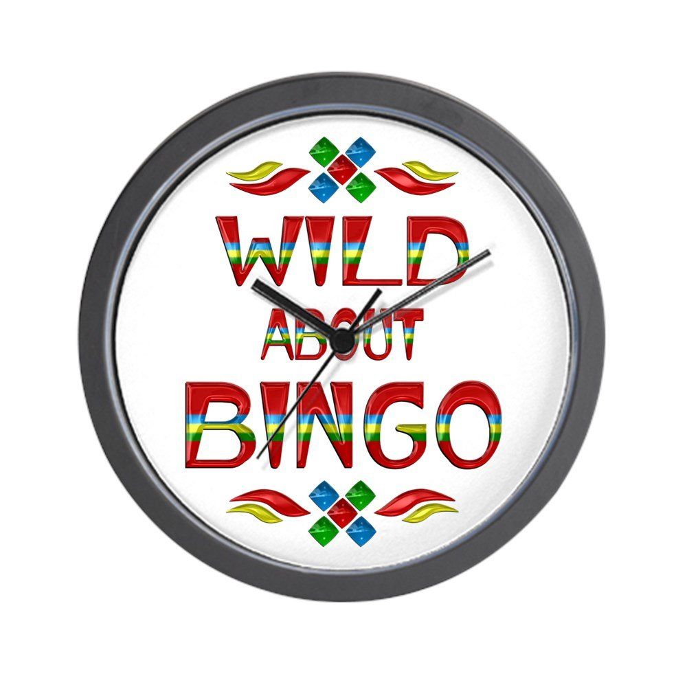 CafePress - Wild About BINGO Wall Clock - Unique Decorative 10'' Wall Clock by CafePress