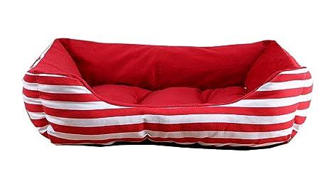 Mascota camas para perros y gatos diseño a la Moda – Rojo Diseño de rayas
