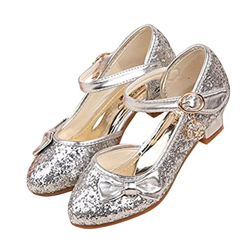 Sandales à Talon Enfant Filles Ballerines Princesse Chaussures Rose pour Déguisement Soirée Cérémonie Mariage 7SQEDNwp