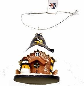Amazon.com : Minnesota Vikings Gingerbread House Light Up ...