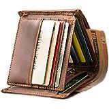 Wallets for Men Slim Genuine Leather Tri-fold Flip Pocket Wallet Cash Passport Card Coins Cases & Money Organizers, Top…
