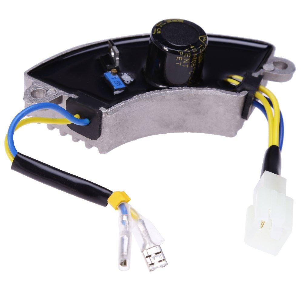 QKPARTS 3500 Watt Generator AVR Automatic Voltage Regulator Rectifier 3.5KW AVR Half Moon