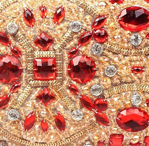 À Palais Strass Soirée Main Femmes Sacs Robe De Mariage Épaule Embrayage Rouge Sac wFFPq1O