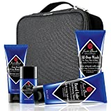 jack black mens shaving - JACK BLACK – Grab & Go Traveler Set – TSA-Approved Sizes, Clean Break Oil-Free Moisturizer, Pit Boss Antiperspirant & Deodorant, Beard Lube Conditioning Shave, All-Over Wash for Face, Hair and Body