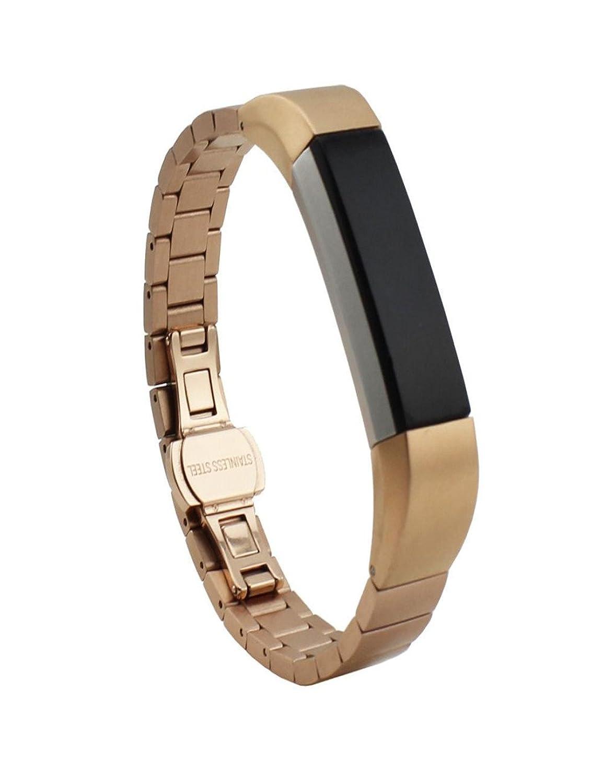 Dreaman Luxuryステンレススチールスマートウォッチバンド交換用手首ストラップfor Fitbit ALTA  B0751BH18F